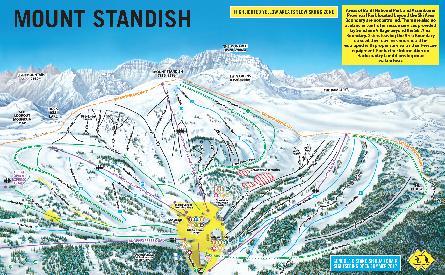 Sunshine Village Map Banff Sunshine (Formerly Sunshine Village)   SkiMap.org Sunshine Village Map