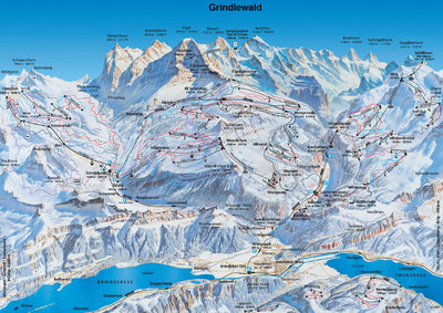Piste map for 1989/90 season.