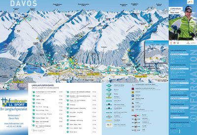 Cross country skiing map for winter 2016/17