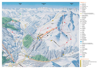 Madrisa piste map & prices for 2016/17