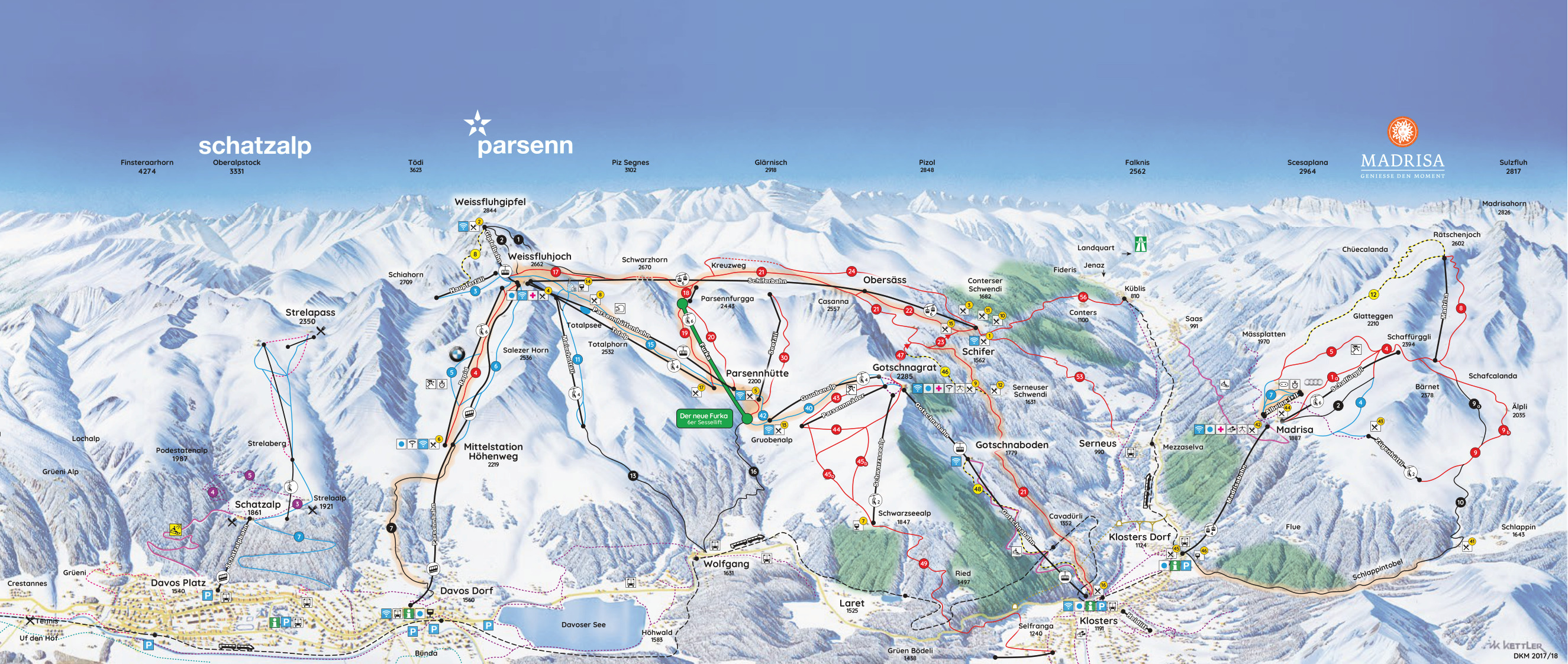 Davos-Klosters - SkiMap.org