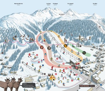 Family Ski Resort Languard Pontresina Switzerland