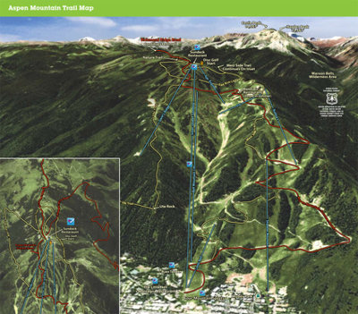 Summer map of aspen and snowmass
