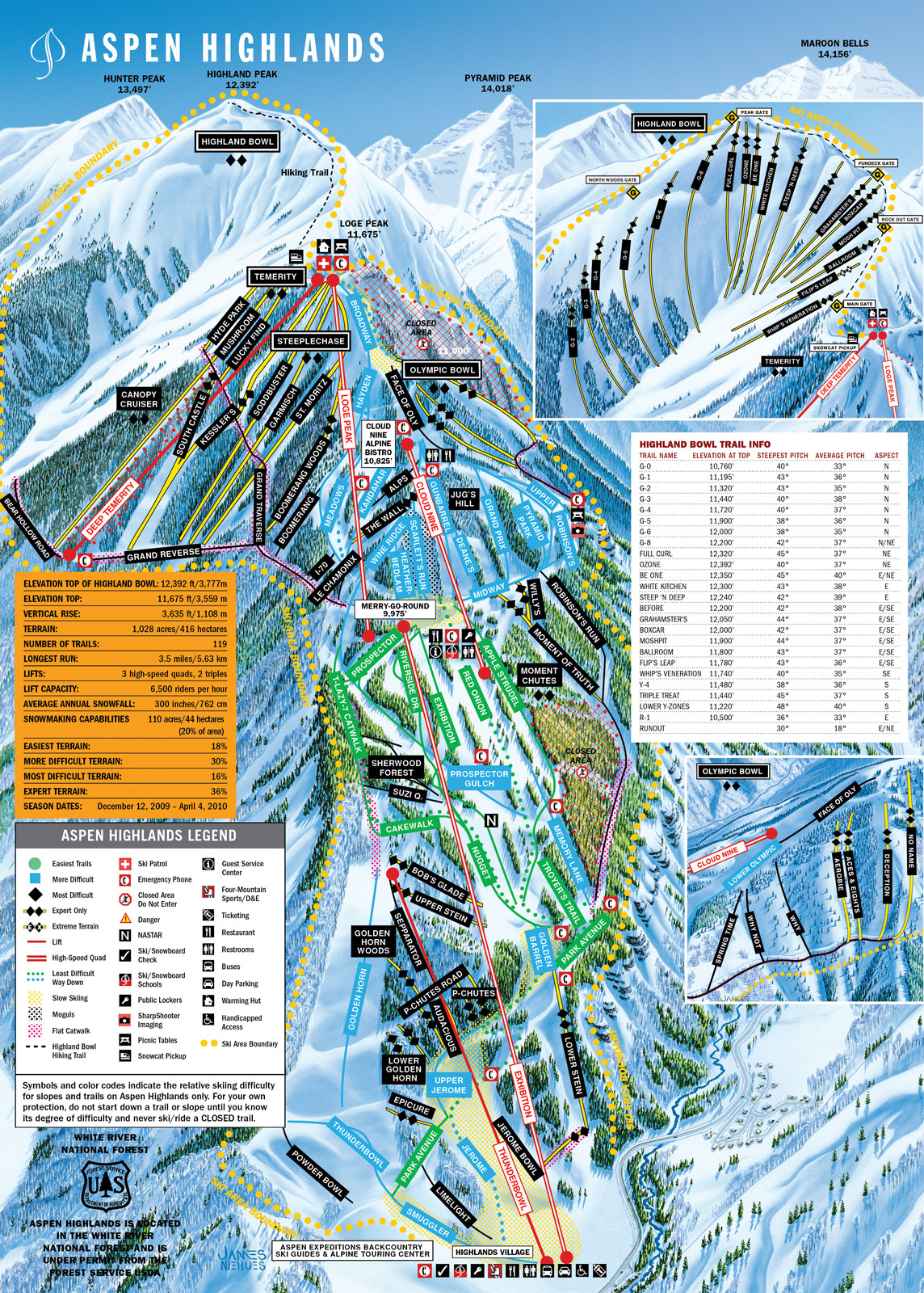 Aspen Highlands  SkiMaporg