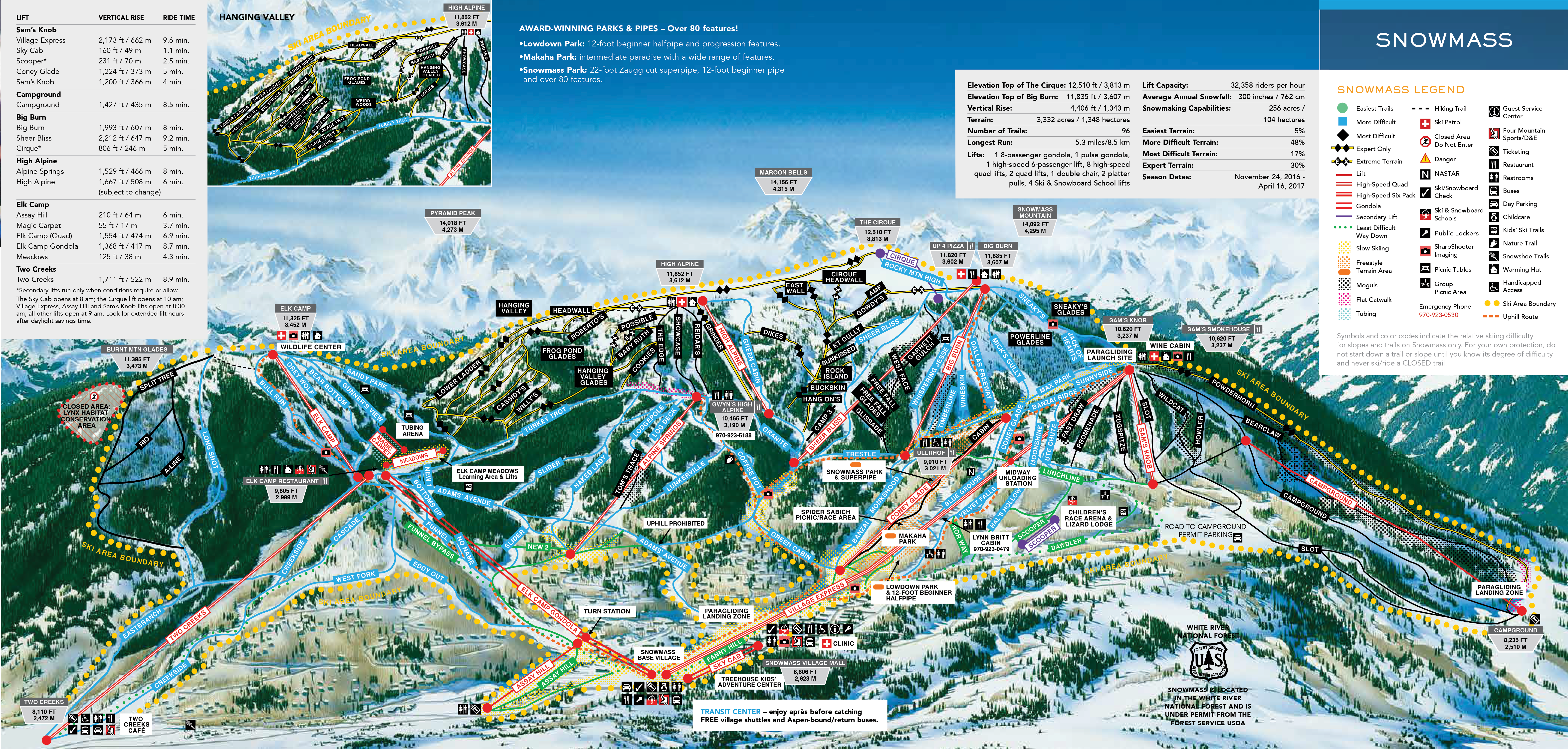 Snowmass Ski Map Snowmass   SkiMap.org Snowmass Ski Map