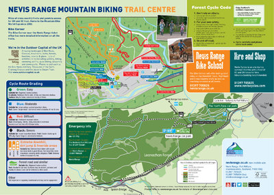 Map of MTB routes.