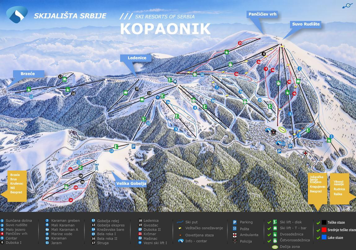 Image result for kopaonik ski map