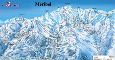 Piste map for the 1996/97 season.
