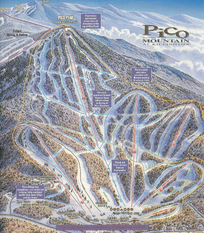 Pico Mountain 2000 Brochure Trail Map