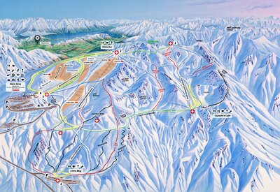2018 Cardrona Trail and Piste map with updated style and McDougalls Chondola