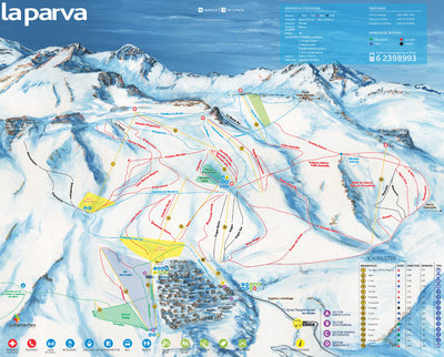 La Parva Ski Trail Map 2015