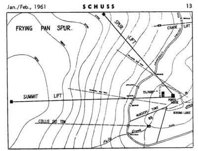 Map showing 8 former lifts, inc Australia's first chairlift