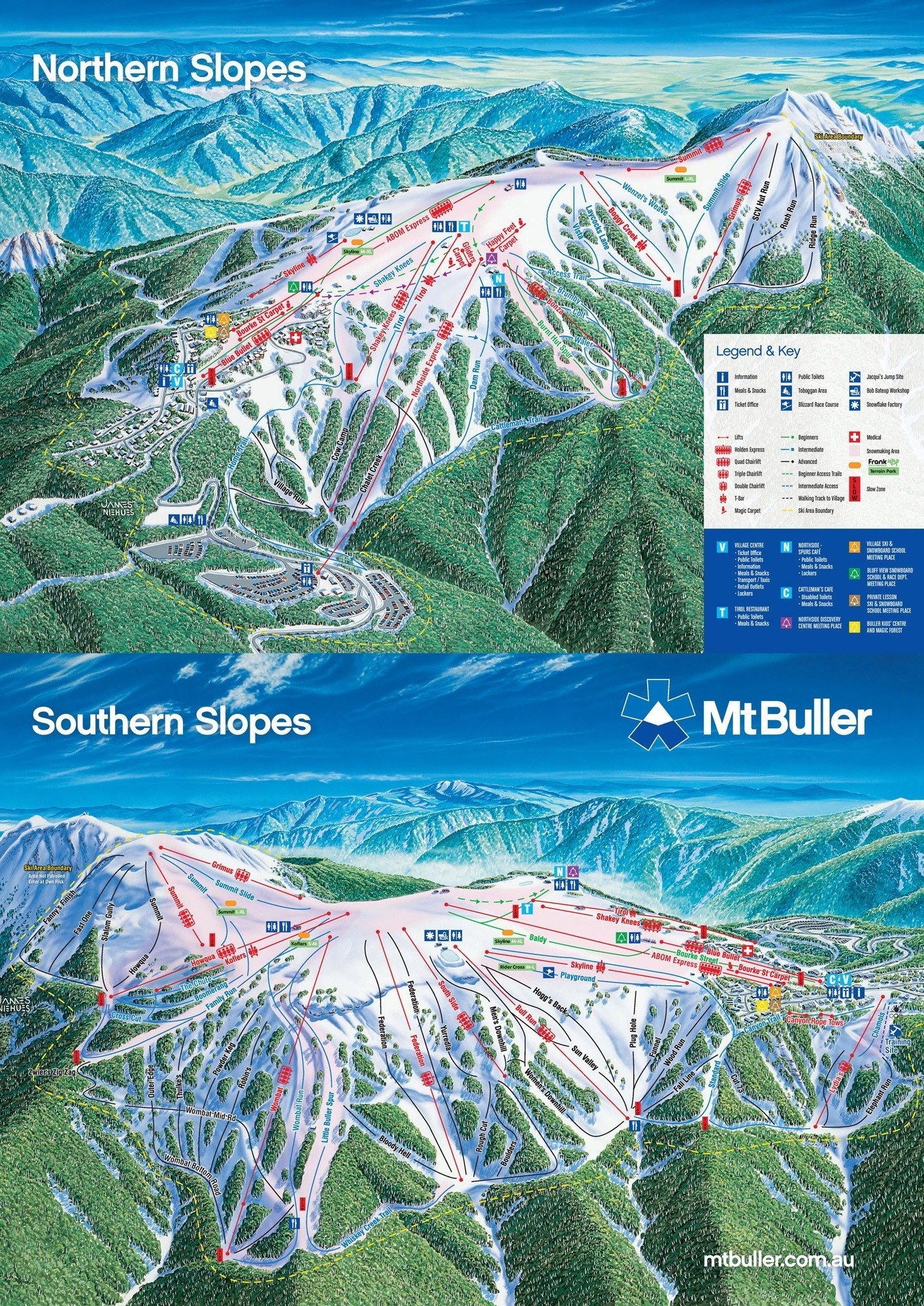 Mt Buller Map Mount Buller   SkiMap.org