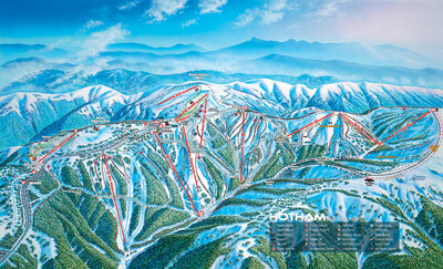 2012 Mt Hotham Downhill Trail Map