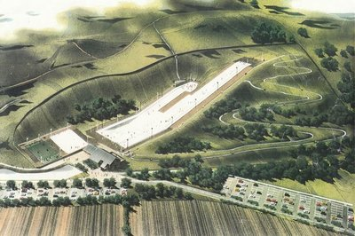 Artists impression of the completed original development. Only the nursery slope to the left was ever built.