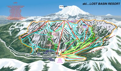 lost basin computer map, hand drawn will come shortly. *Note this is a mirrored copy of Crystal Mountain WA