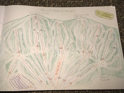 Basic topography was based off Windham, NY. Drawn by myself