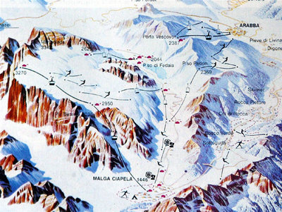 Piste map from 1989