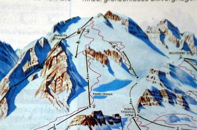Piste map from around 1986