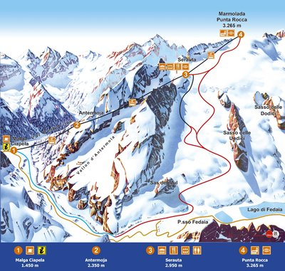 Piste map for 2017/18 season