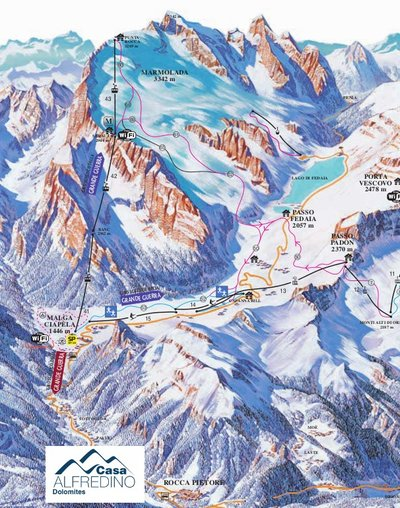 Piste map from 2014