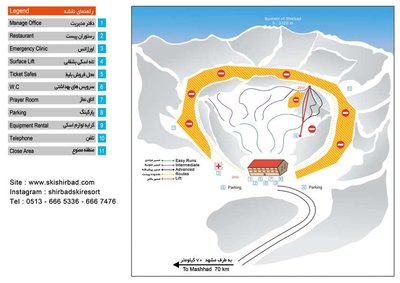 Ski Shirbad Resort Map