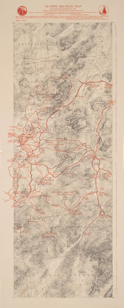 1932 Olympic Ski Trail Map