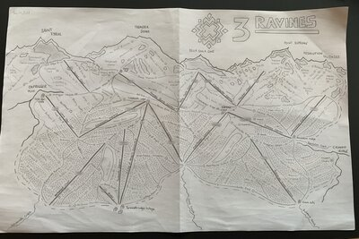 Hand drawn map complete