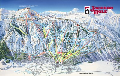 Jackson Hole Mountain Resort 2018-19 Winter Trail Map