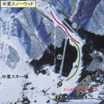 Yuzawa Nakazato's trails are visible on the left.