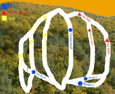I made up a new trail rating system for this map.