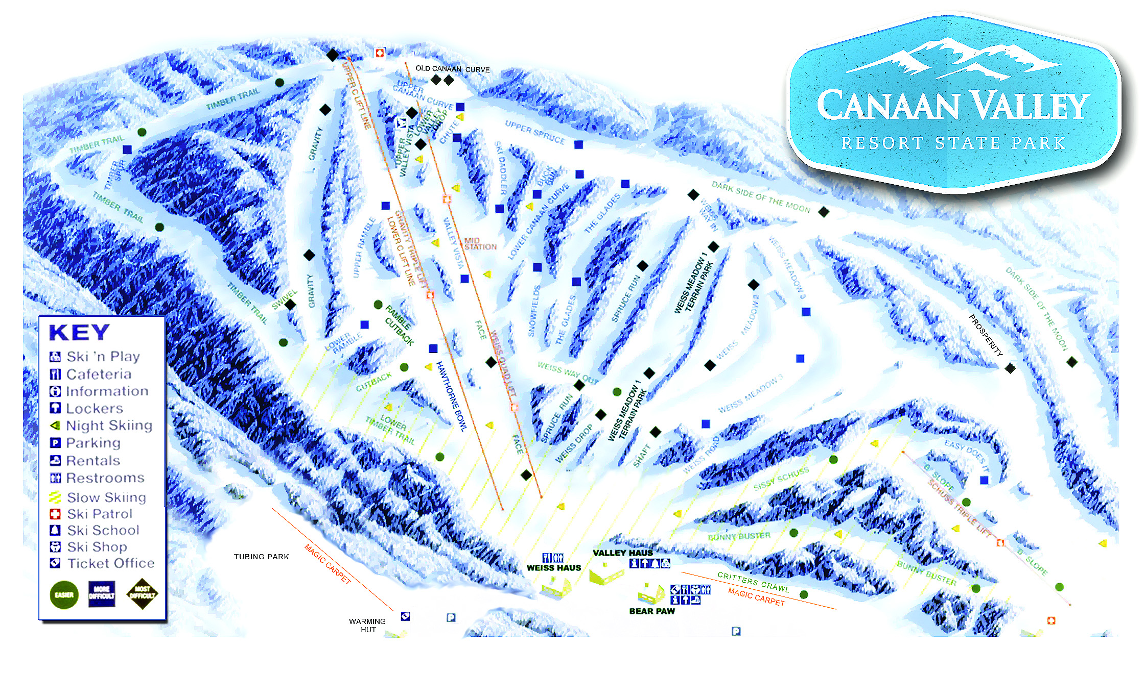 Canaan Valley Resort SkiMaporg