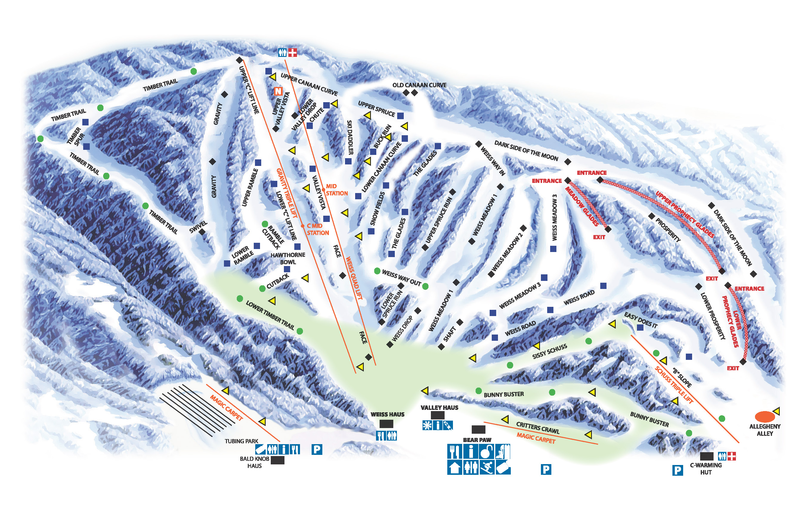 canaan valley resort - skimap