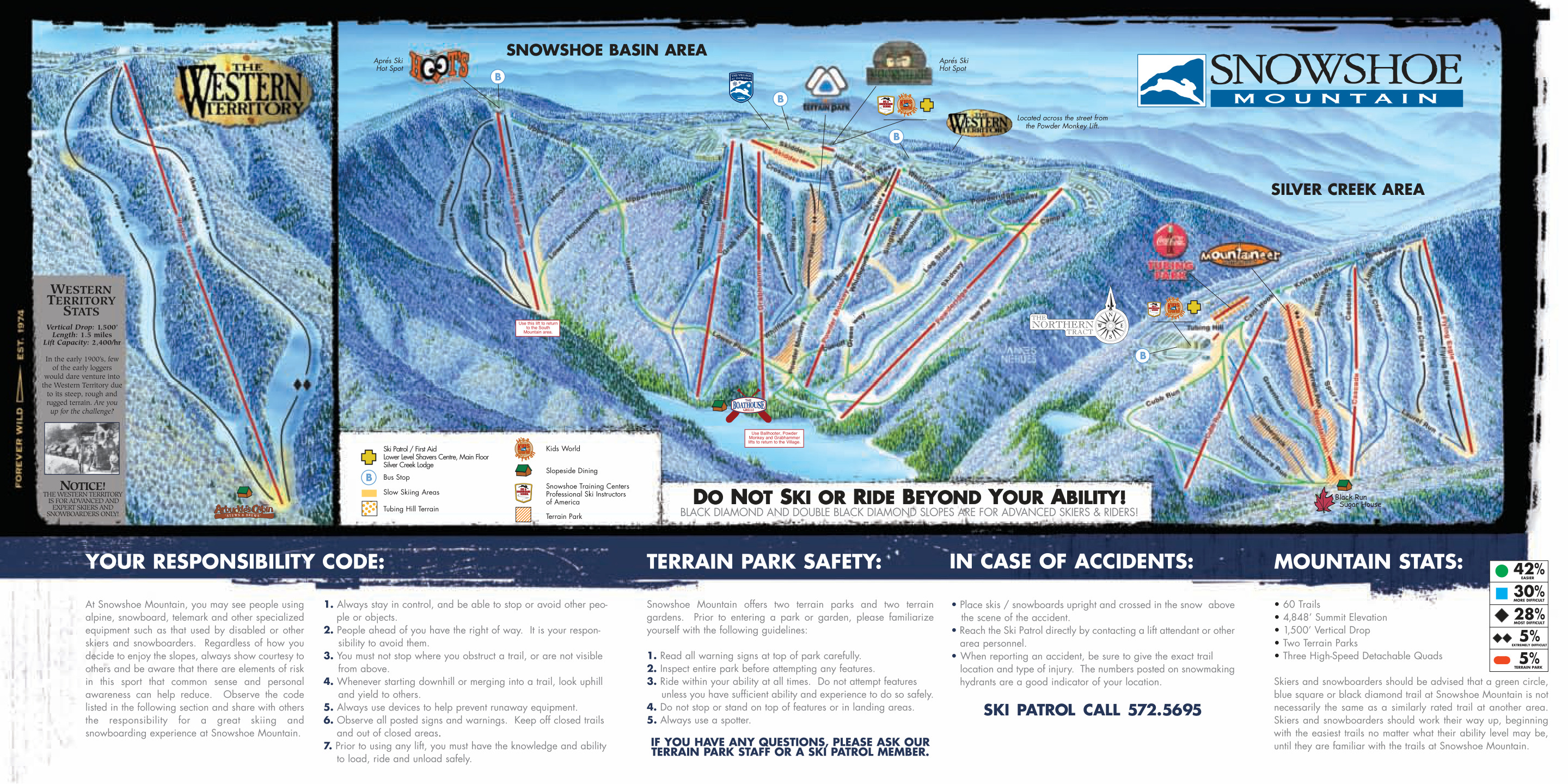Skiing Virginia Map.Snowshoe Mountain Skimap Org
