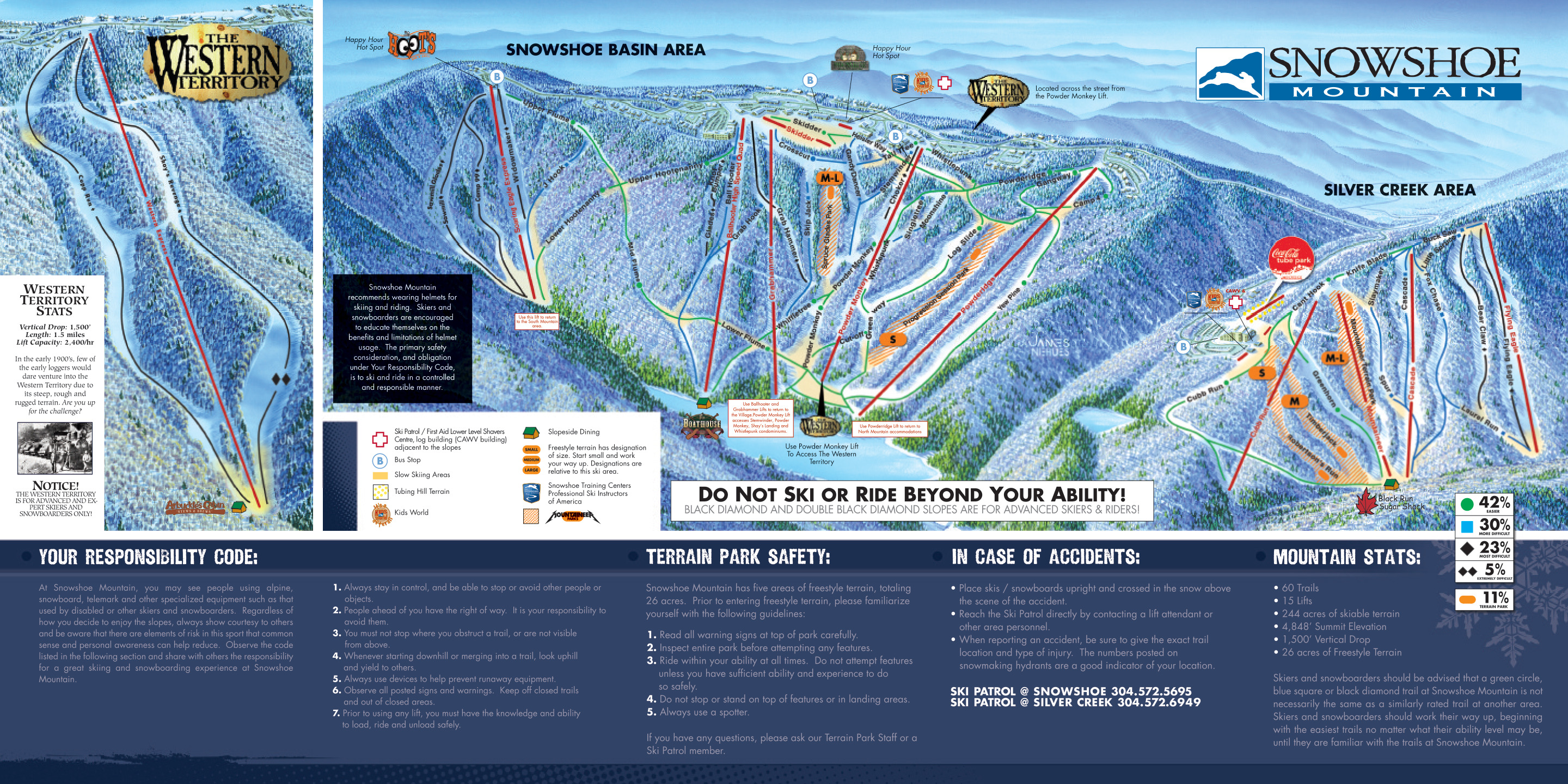 Ski Virginia Map.Snowshoe Mountain Skimap Org