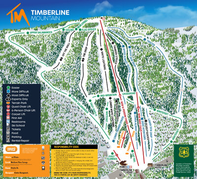 New Timberline map with new lifts