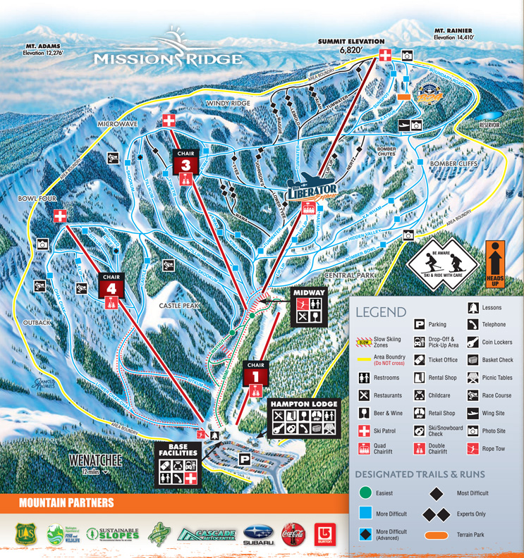 Mission Ridge Ski Area Skimap Org