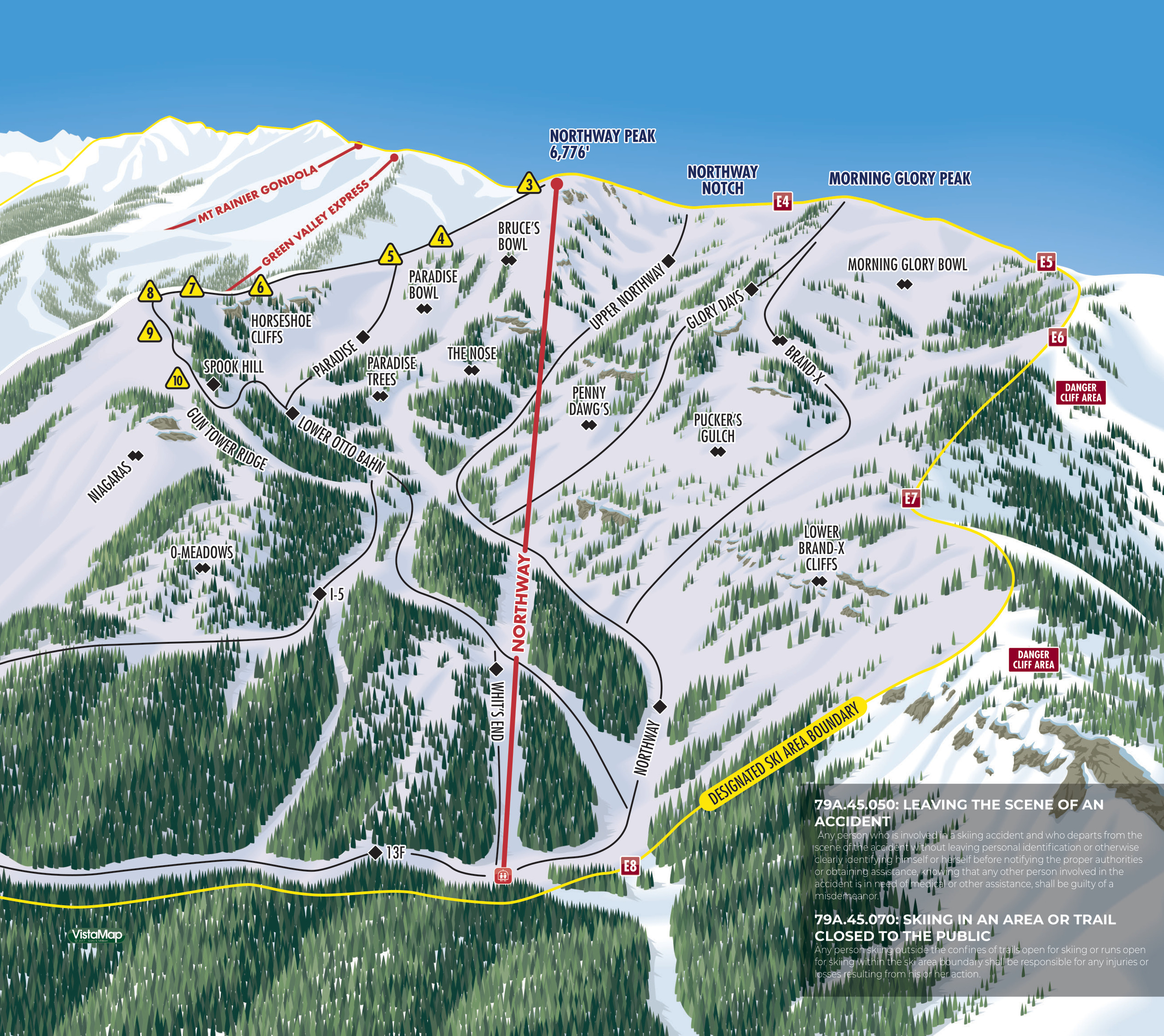 Crystal Mountain Resort - SkiMap.org on