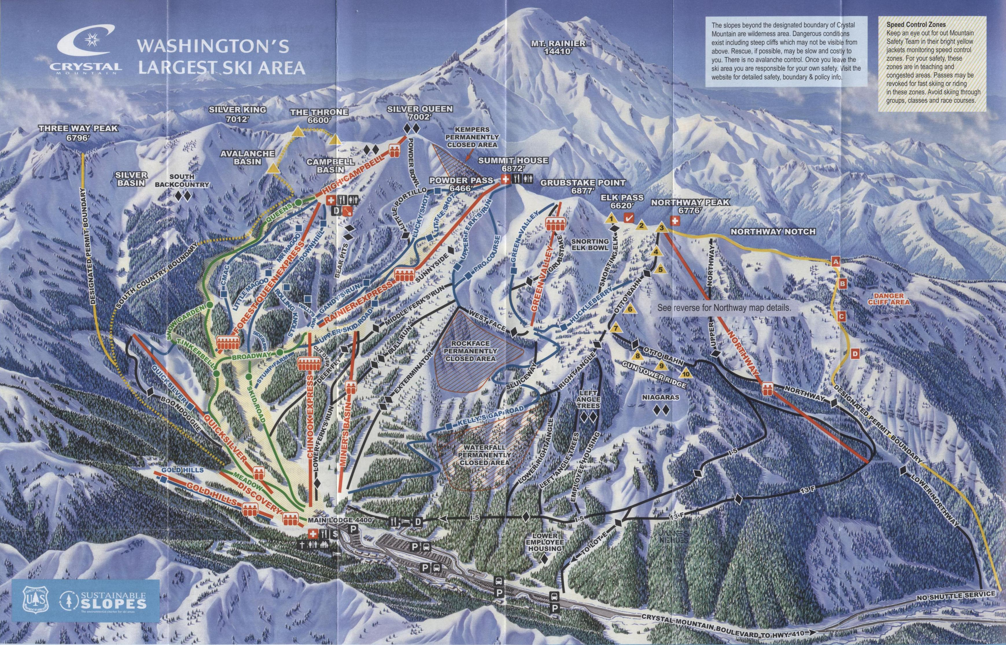 crystal mountain resort - skimap