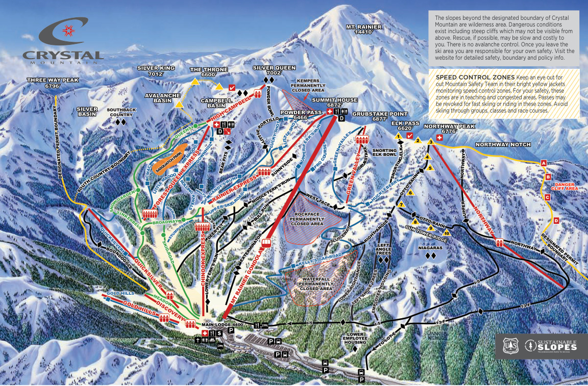 Crystal Mountain Resort   SkiMap.org