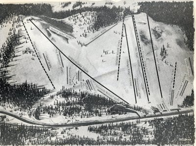 Trail Map of Snoqualmie Summit from about 1970