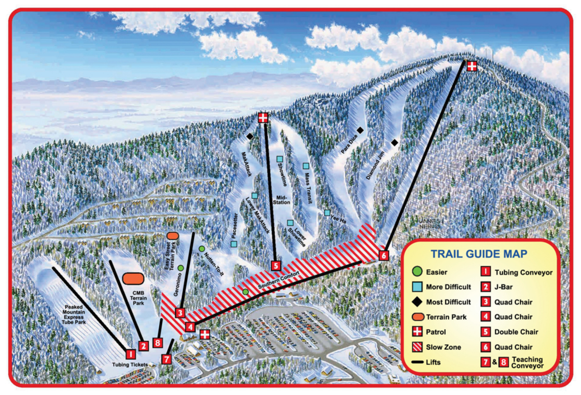 Skiing Virginia Map.Massanutten Resort Skimap Org