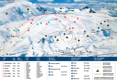 Piste map for 2015/16 season