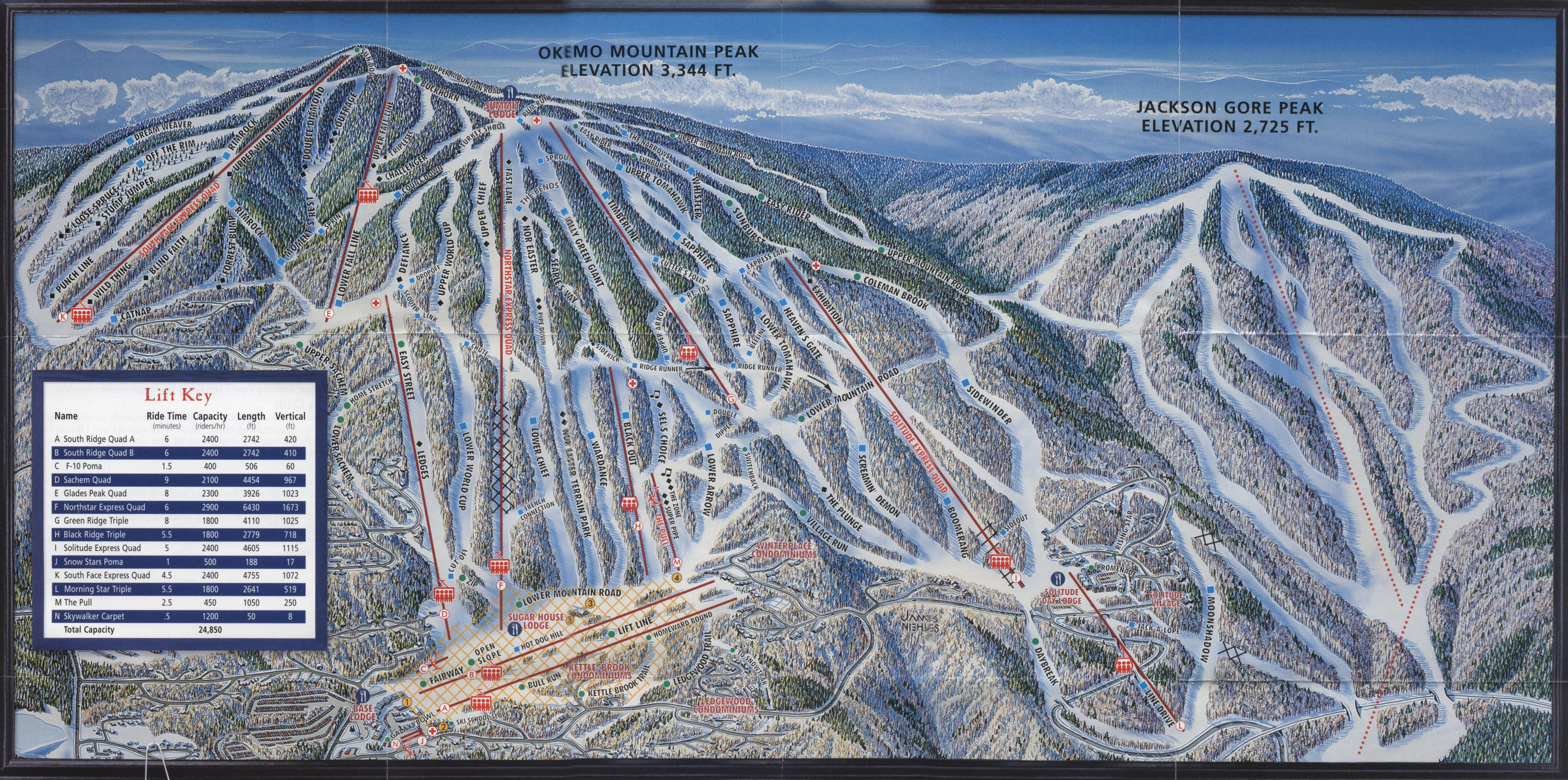 okemo mountain resort - skimap