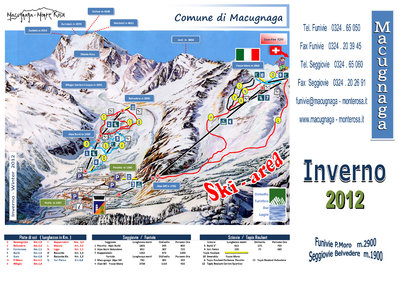 Piste map designed for 2011/12 season. Still used at the moment (April 2016).