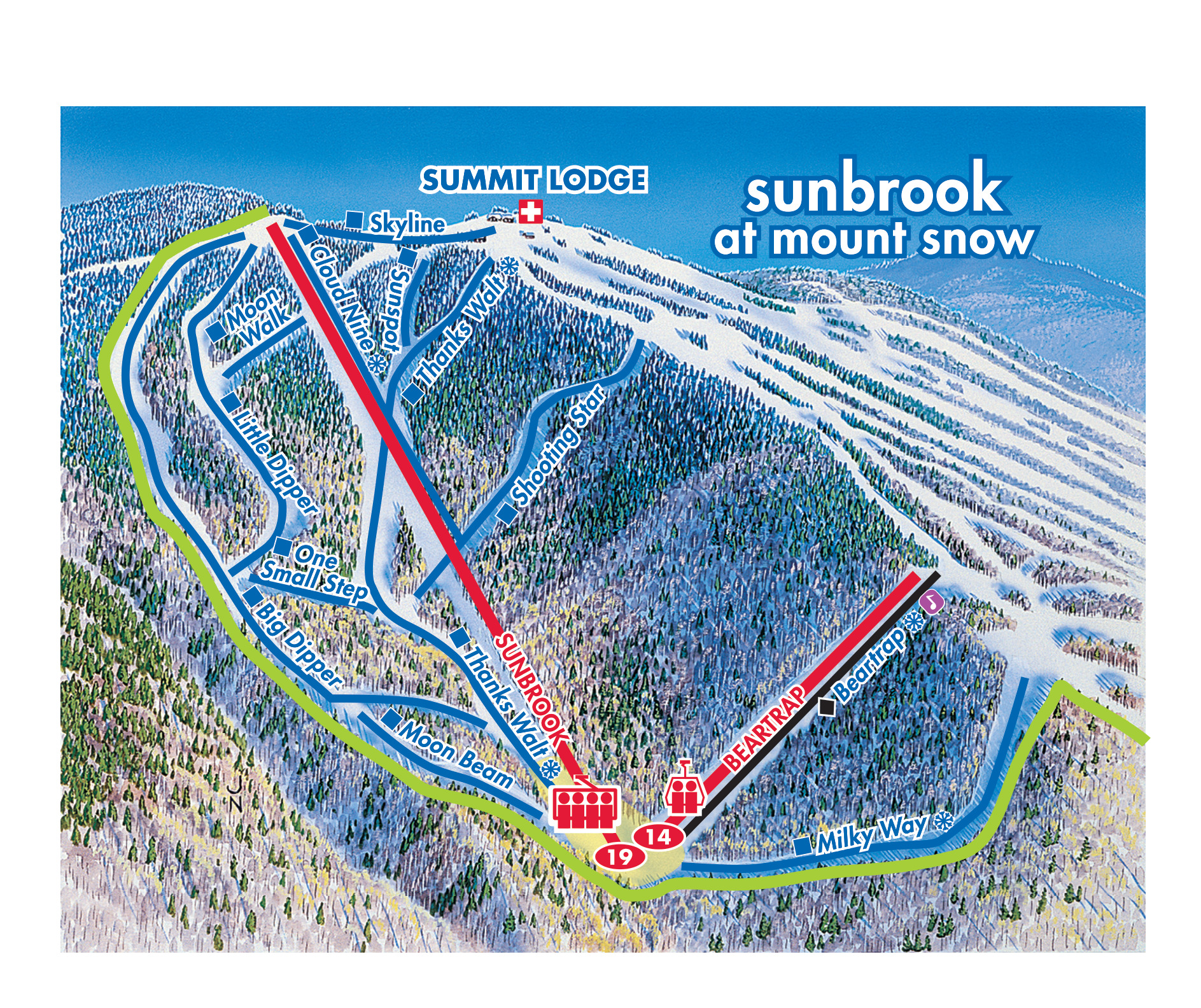 mount snow - skimap