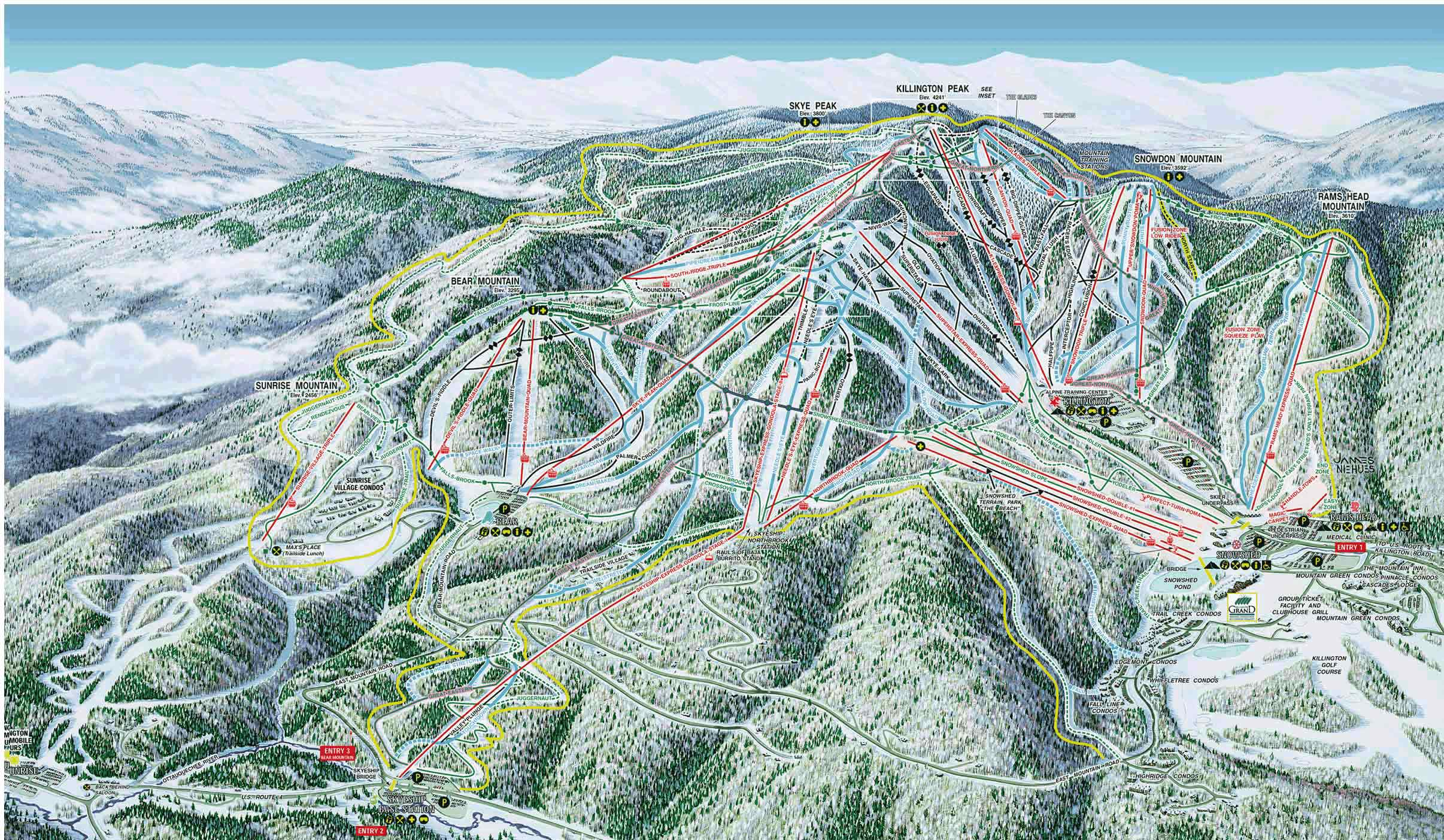 killington - skimap