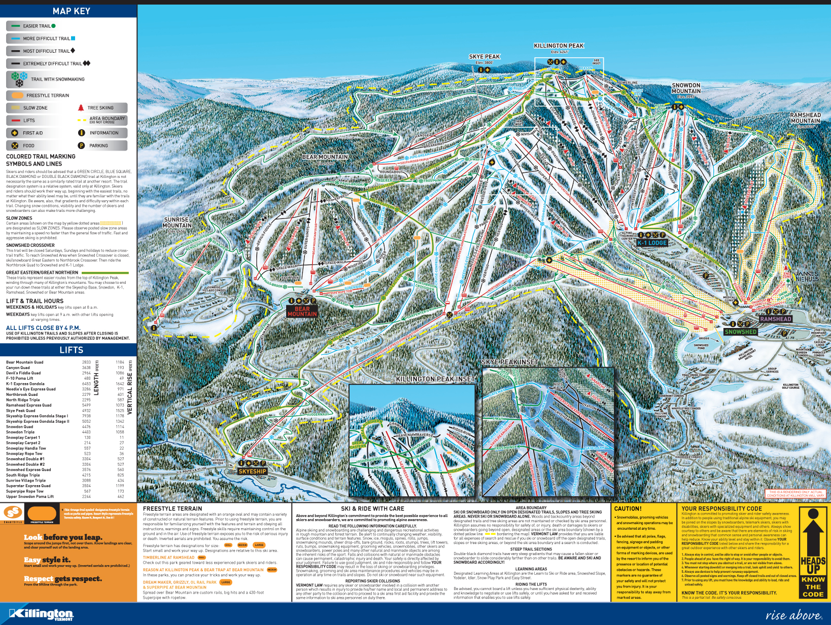 Killington SkiMap