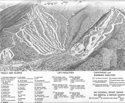 1963-1964 Stowe Trail Map