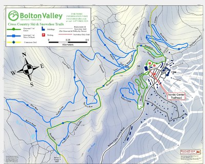 2009-10 Nordic & Snowshoe Trail Map (Groomed Trails Only)